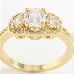 1.18 ctw white sapphire ring size 7